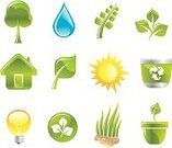 Drop,Water,Sign,Sun,Symbol,Green Color,House,Recycling,Leaf,Organic,Shiny,Tree,Design,Energy,Environment,Light Bulb,Nature,Computer Icon,Computer Graphic,Environmental Conservation,Ilustration,Vector,Set,Grass,Flower,Modern,Virus,Design Element,Recycling Symbol,Image,Illustrations And Vector Art,Vector Icons