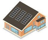 Isometric,House,Built Structure,Solar Panel,Solar Energy,Building Exterior,Residential Structure,Symbol,Architecture,Environmental Conservation,Environment,Alternative Energy,Vector,Clip Art,Detached House,Ilustration,Isolated On White,Recycling,No People,Man Made Structure,Real Estate