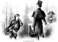 Men,Ilustration,Entering,Top Hat,Engraved Image,1881,Cape,Old-fashioned,English Culture,Drawing - Art Product,Inside Of,Visit,Teenager,Clothing,Finger on Lips,Adolescence,19th Century Style,Antique,History,Surprise,Old,Print,Little Boys,Social History,Shock,Coat,Ephemera,Black And White,The Past,Action,Indoors,Illustration Technique,Image Created 1880-1889,Historical Clothing,Monochrome,UK,Electric Lamp,Bag,Gladstone Bag,Cultures,British Culture,Image Created 19th Century,Emotion