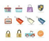Open Sign,Price Tag,Basket,Symbol,Store,Shopping,Computer Icon,Sale,Seal - Stamp,Icon Set,Merchandise,Security,Bag,Security System,Shield,Full,Vector,Delivering,Set,Empty,Pick-up Truck,Web Page,Lock,Truck,Front View,Retail,Single Object,Mode of Transport,Isolated On White,Isolated Objects,Transportation,Illustrations And Vector Art,Vector Icons,Sparse,Mini Van,E-commerce,Business