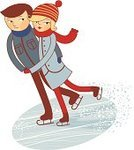 Ice-skating,Ice Rink,Ice Skate,Couple,Winter,Ice,The Human Body,Figure Skating,Pair,Men,Sport,People,Female,Women,Dancing,Male,Turning,Blade,Outdoors,Cartoon,Teenage Girls,Water Sport,Sports And Fitness,Lifestyles,Illustrations And Vector Art,Relaxation,People,Leisure Activity,Motion