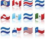 Flag,Mexican Flag,Texas State Flag,American Flag,Canadian Flag,Symbol,Costa Rican Flag,Vector,Belize,Icon Set,El Salvador,National Flag,Guatemala,North America,Panama,Honduras,Greenland,No People,Isolated On White,Ilustration