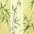 Bamboo,East Asian Culture,Backgrounds,Leaf,Vector,Banner,Grass,Ilustration,Vertical,Green Color,Painted Image,Nature,Brush Painting,Beauty In Nature