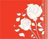Rose - Flower,Striped,Plant,Red,Leaf,Abstract,Monochrome,Two Objects,Elegance,Romance,Color Image,Spotted,Valentine's Day,Nature Abstract,Vector Florals,Holidays And Celebrations,Nature,Illustrations And Vector Art,Nature