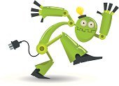 Robot,Dancing,Green Color,Cyborg,Technology,Computer,Fun,Futuristic,Humor,Machinery,Automated,Artificial,Electronics Industry,Intelligence,Electronica,Anthropomorphic,Technology,Electronics,cybernetics,processor,Illustrations And Vector Art