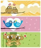 Owl,Bird,Kissing,Cartoon,Cute,Love,Banner,Monkey,Animal,Animal Eye,Valentine's Day - Holiday,Ilustration,Vector,Valentine Card,Heart Shape,Sparrow,Anniversary,Embracing,Placard,Small,Pink Color,Romance,Wing,Green Color,Branch,Pattern,Yellow,Illustrations And Vector Art,Feelings And Emotions,Vector Cartoons,Concepts And Ideas,Nature,Sitting,Togetherness,Dating