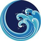 Wave,Wave Pattern,Surf,Circle,Water,Sea,Vector,Motion,Blue,Curve,Nature Abstract,Bodies Of Water,Illustrations And Vector Art,Nature