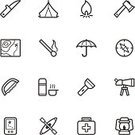 Symbol,Camping,Computer Icon,Icon Set,Kayak,Flashlight,Outdoors,Tent,Map,Umbrella,Axe,Canoe,Outdoor Pursuit,Knife,Outline,Global Positioning System,Lantern,Binoculars,Match,Fire - Natural Phenomenon,Vector,monocular,Nature,First Aid Kit,Thin,Slim,Single Line,kerosene lamp,vector icon,Paraffin Lantern