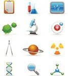 Symbol,Cell,Computer Icon,Research,Science,Order,Icon Set,Flask,Microscope,Biology,DNA,Virus,Clipboard,Drawing Compass,Searching,Organic,Magnifying Glass,Planet - Space,Vector Icons,Research,Medicine And Science,Illustrations And Vector Art