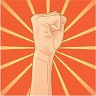 Power,Fist,Protest,Sunbeam,Sunlight,Human Hand,Sun,Orange Color,Sketch,Projection,Line Art,Yellow,Illustrations And Vector Art,Power,Concepts And Ideas,Actions,Drawing - Art Product,Vector,Ilustration,Human Finger,Ink Drawing