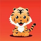 Tiger,Animated Cartoon,Cartoon,Animal,Cute,Animals In The Wild,Wild Animals,Illustrations And Vector Art,Vector Cartoons,Characters,Red,Undomesticated Cat,Animals And Pets