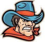 Cowboy,Mascot,Cowboy Hat,Wild West,Country and Western Music,Ilustration,Vector,Character Traits,Vector Cartoons,Success,Illustrations And Vector Art,Confidence,Concepts And Ideas,White Background