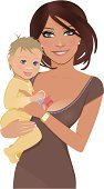 Mother,Baby,Cartoon,Child,Women,Ilustration,Holding,Vector,Baby Girls,Brown Hair,Little Boys,Parent,Beautiful,Smiling,Toy,Clip Art,Watch,Vector Cartoons,Families,People,Lifestyle,Illustrations And Vector Art