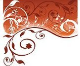 Music,Classical Music,Backgrounds,Musical Staff,Musical Note,Swirl,Music Style,Classic,Harmony,Treble Clef,Pattern,Floral Pattern,Design,Orange Color,Vector,Treble,Symbol,Bass,Design Element,Wave Pattern,Arts And Entertainment,Nature,Music,Vector Ornaments,Ilustration,Illustrations And Vector Art,Set,Part Of,Flowers,Natural Pattern