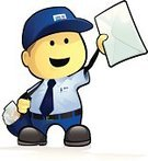 Postal Worker,Occupation,Cartoon,Small,Messenger,Mail,Men,Delivering,Envelope,Delivery Person,Vector,Correspondence,Letter,Bag,Ilustration,Job - Religious Figure,Happiness,Cheerful,Characters,Cute,Uniform,Blue,Illustrations And Vector Art,Retail/Service Industry,Industry,Vector Cartoons,People