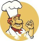 Chef,Chef's Hat,Baker,Italian Culture,Cartoon,Vector,Ilustration,Men,Food,Spice,Human Hand,Mascot,Mustache,Fast Food Restaurant,Italian Cuisine,Refreshment,Scented,Tasting,Characters,Male,Cheerful,Smiling,Fast Food,Handlebar Mustache,Occupation,Cute,Food And Drink,Meal,Uniform,Baking,Illustrations And Vector Art,Cooking,Vector Cartoons