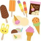 Ice Cream,Ice,Cream,Ice Cream Cone,Strawberry,Frozen,Dessert,Vector,Summer,Cold - Termperature,Chocolate,Snack,Sweet Food,Food,Chocolate Chip,Dairy Products,Vector Icons,Illustrations And Vector Art,Food And Drink