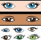 Human Eye,Cartoon,Eyeball,Shape,Female,Drawing - Art Product,Vector,Male,Ilustration,Asian Ethnicity,Black Color,White,Set,African Descent,Blue,Brown,Vector Cartoons,Illustrations And Vector Art,Green Color,Caucasian Ethnicity,Isolated