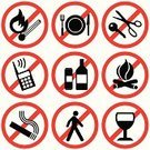Forbidden,Sign,Alcohol,Warning Sign,Alcohol,Symbol,Safety,Don't,Danger,Smoke - Physical Structure,Computer Icon,Drinking,Warning Symbol,Food,Fire - Natural Phenomenon,Mobile Phone,Cigarette,Circle,Information Medium,Telephone,Smoking,Entrance,Smoking Issues,Radio,Clip Art,Vector,Data,Sharp,Entrance Sign,Set,Red,Black Color,Vector Icons,Metal,Illustrations And Vector Art