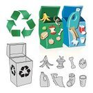 Garbage,Organic,Separation,Pollution,Rubble,Garbage Bin,Recycling,Solid,Cartoon,Recycling Bin,Plastic,Organization,Container,Canister,Green Color,Jar,Clean,Environment,Blue,Arts And Entertainment,Plastic Container,Arrangement,Food And Drink,Environmental Conservation,Neat,Illustrations And Vector Art,Visual Art,Peel