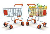 Shopping Cart,Shopping,Full,Food,Store,Empty,Delivering,Vector,Action,Mode of Transport,Isolated,Ingredient,Motion,Freight Transportation,Meal,Drawing - Art Product,Transportation,Illustrations And Vector Art,Single Object,Ilustration,Carrying,Isolated Objects,Drawing - Activity,White,Transportation