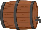 Barrel,Wine,Keg,Beer - Alcohol,Wood - Material,Alcohol,Vector,Beer Tap,Faucet,Oktoberfest,Alcohol,Illustrations And Vector Art,Food And Drink,Ilustration