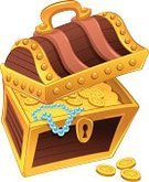 Treasure Chest,Treasure,Trunk,Cartoon,Coin,coffer,Vector,Gold Colored,Gold,Pearl,Necklace,Humor,Isolated,Wealth,Currency,Abundance,Lock,Color Image,Comic Book,Illustrations And Vector Art,Isolated Objects,Business,Isolated-Background Objects,Single Object,Illustration Technique