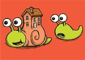 Snail,Slug,Envy,House,Finance,Homes,Business Concepts,Technology,Real Estate,Business,Architecture And Buildings