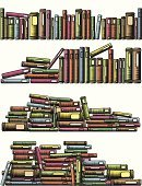 Book,Library,Stack,Old,In A Row,Antique,Publication,Woodcut,Focus On Foreground,Vector,Computer Graphic,Ilustration,Information Medium,Literature,Heap,Set,Textbook,Illustrations And Vector Art,Household Objects/Equipment,resource,Objects/Equipment,Manuscript,Hardcover Book,Collection,Design Element