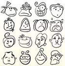 Facial Expression,Caricature,Human Face,Cartoon,Emotion,Men,Women,Humor,Doodle,Sketch,Smiling,Collection,Characters,Little Girls,Smiley Face,Sadness,Set,Human Head,Depression - Sadness,Outline,Teenage Girls,Little Boys,Ilustration,Vector,Team,Fun,Computer Graphic,People,Illustrations And Vector Art,Vector Cartoons,Contour Drawing