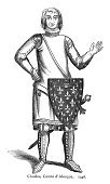 Fleur De Lys,Knight,French Culture,Symbol,Shield,Armed Forces,Military,History,Hundred Years War,Circa 14th Century,Army Soldier,Cultures,Middle Ages,Antique,Engraved Image,Ilustration,Weapon,Obsolete,Military Invasion,News Event,Warrior,European Culture,Traditional Clothing,Medieval,Clothing,Old-fashioned,People,Counts,Royalty,Image,Occupation,Historical War Event,Historical Clothing,Time Period,French Military,Army,Lifestyle,Styles,Illustration Technique,The Past,Old,Human Role,Illustrations And Vector Art,Suit of Armor