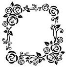 Rose - Flower,Frame,Black Color,Flower,Vector,Pattern,White,Silhouette,Floral Pattern,Computer Graphic,Ilustration,Ornate,Backgrounds,Digitally Generated Image,Curve,Vector Ornaments,Vector Florals,Illustrations And Vector Art,Creativity,Vector Backgrounds