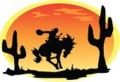 Cowboy,Wild West,Cactus,Sunset,Desert,Horse,Cowboy Hat,Time,Concepts And Ideas,Travel Locations