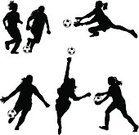 Soccer,Teenage Girls,Silhouette,Women,Soccer Ball,Playing,Female,Sport,Soccer Player,Teenager,Ball,People,Ilustration,Profile View,Vector,Exercising,Kicking,Team Sport,The Human Body,Isolated,Power,Black Color,Goaltending,Collection,Athlete,Outdoors,Cut Out,Group Of People,Striker,Design Element,Strength,People,Black And White,Set,Physical Activity,Competitive Sport,Unrecognizable Person,Team Sports,Sports And Fitness,Illustrations And Vector Art,Isolated On White,Making A Save