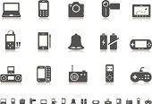 Mobile Phone,Symbol,Computer Icon,Icon Set,Electrical Equipment,Equipment,Desk Toy,Global Positioning System,Laptop,Digitally Generated Image,The Media,Information Medium,Camera - Photographic Equipment,Smart Phone,Multimedia,Communication,Battery,MP3 Player,Palmtop,Entertainment,Radio,Electronic Organizer,Vector,Gray,Bell,Global Communications,Computer Graphic,Speaker,Joystick,SLR Camera,Ilustration,Home Video Camera,Netbook,Digitized Pen,Design Element,Clip Art,Sound Recorder