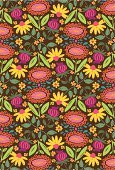 Seamless,Floral Pattern,Pattern,Flower,Multi Colored,Backgrounds,seamless pattern,Decoration,Ornate,Vector Florals,Vector Ornaments,Vector Backgrounds,Illustrations And Vector Art,Ornamental Pattern,Decorative Pattern