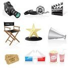 Home Video Camera,Movie,Director,Symbol,Computer Icon,Film,Ticket,Film Industry,Megaphone,Film Reel,Camera - Photographic Equipment,Camera Film,Popcorn,Chair,Award,Sign,Interface Icons,Push Button,Industry,Multimedia,Action,Film Slate,Art,Entertainment,Television Set,Part Of A Series,Vector,Equipment,Computer,Internet,Set,Communication,Technology,Ilustration,Arts Symbols,The Media,Cinema,Image,Arts And Entertainment,Information Medium,White,Illustrations And Vector Art,Vector Icons