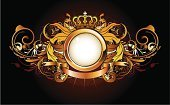 Crown,Shield,Success,Gold Colored,Vector,Ribbon,Scroll,Scroll Shape,Nobility,Insignia,Black Color,Decoration,Medieval,Frame,Shiny,heraldic,Classical Style,Swirl,Banner,Majestic,Backgrounds,Symbol,Design,Abstract,Elegance,Mystery,Style,Ilustration,Flower,Antique,Arts And Entertainment,Holidays And Celebrations,Computer Graphic,Illustrations And Vector Art,Art,Old-fashioned,Shape,Design Element,Empty,Part Of,Leaf,Beautiful,Obsolete,Retro Revival,Blank