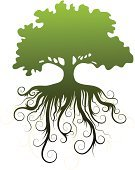 Tree,Curly Hair,Silhouette,Vector,Shade,Abstract,Isolated,Growth,flourishes,Cultivated,Nature,Leaf,Nature Symbols/Metaphors,Vector Icons,Plants,Illustrations And Vector Art,Ornate,Curve,Nature