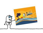 Postcard,Vacations,Humor,Dreamlike,Journey,Eyewear,Summer,Sunglasses,Souvenir,Sketch,Coconut Palm Tree,Tourism,Wave,Repetition,Infinity,Holidays,Nature,Characters,Fun,Image,Island,Cartoon,Sunset,Summer,Drawing - Art Product,Illustrations And Vector Art,Travel Locations,Idyllic,Landscape,Palm Tree