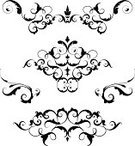 Knick Knack,Scroll Shape,Ornate,Black Color,Set,Swirl,Vector,Victorian Style,Leaf,Symmetry,Spiral,Decoration,Old-fashioned,Antique,Design Element,Isolated On White,Retro Revival,Silhouette,Curled Up,Fluer De Lys,Isolated,No People,Vector Florals,Illustrations And Vector Art,Vector Ornaments,Small Group of Objects,Black And White