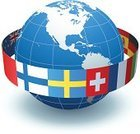 Flag,Globe - Man Made Object,Earth,Planet - Space,Sphere,National Flag,All European Flags,Chinese Flag,Vector,Swedish Flag,Swiss Flag,Isolated On White,French Flag,Ilustration,No People,Finnish Flag