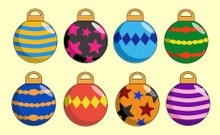 Christmas,Christmas Ornament,Holiday,Striped,Vector,Decoration,Celebration,Simplicity,Funky,Ilustration,Planet - Space,Holidays And Celebrations,Star Shape,Colors,Blue,Diamond Shaped,Red,Green Color,Black Color,Illustrations And Vector Art,Christmas,Orange Color,Pink Color,Multi Colored,Yellow,Purple,Sphere