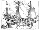 Brigantine,Sailing Ship,Passenger Ship,Shipping,Anchor,Nautical Vessel,Caravel,Etching,Historical Ship,Renaissance,Galleon,Crew,Sail,Lateen,Tudor Style,Ilustration,Old-fashioned,Antique,The Past,History,Sailor,Image Created 16th Century,Engraved Image,Galley,16th Century Style,Spinnaker,Old,Sailing,German Culture,Hans Holbein,Rigging,Mode of Transport,Passenger Craft,European Culture,Jib,Art And Craft,Transportation,Recreational Boat,Art Product,Art,Art and Craft Product,Early Renaissance,Tall Ship,Illustrations And Vector Art,Mast,Navy,Crow's Nest,Styles,Cultures,Travel Locations,Vessel Part,Image,Classical Style