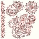 Henna Tattoo,Paisley,Indian Culture,Flower,Doodle,Swirl,Decoration,Scroll Shape,Ornate,Outline,Ilustration,Abstract,Vector Ornaments,Vector Florals,Illustrations And Vector Art
