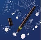 Drafting,Pen,Blueprint,Work Tool,Technology,Drawing - Art Product,rapidograph,Exploding,Splattered,Spray,Equipment,Computer Graphic,Isometric,Sketch,Vector,Paper,Silhouette,Dirty,Ideas,Digitally Generated Image,Plan,Stroking,splats,Paint,Concepts,oops,Grunge,Open,Document,Candid,technical drawing,Industry,Mistake,Paperwork,Accident,Inkblot,Blob,Planning,Blue,Hair Dryer,Ink,Ilustration,Drop,Failure,Grunge,Drawing Pen,engineering drawing,White,Shape