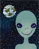 Alien,Earth,Space,Fun,Humor,Clip Art,Globe - Man Made Object,Star - Space,Star Shape,Vertical,Science Symbols/Metaphors,Cartoon,Illustrations And Vector Art,Earth Planet,Planet - Space,Vector,Medicine And Science,Vector Cartoons,Concepts And Ideas,Characters,Ilustration,Portrait,UFO