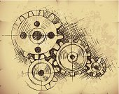 Gear,Sketch,Innovation,Drawing - Art Product,Invention,Technology,Machinery,Clockworks,Machine Part,Business,Retro Revival,Pencil Drawing,Old,Paper,Ideas,Equipment,Backgrounds,Wheel,Dirty,Symbol,Teamwork,Industry,Ilustration,Interlocked,Concepts,History,Vehicle Part,Working,Cooperation,Vector,Abstract,Grunge,Design,Inspiration,Progress,Textured,Sharing,Motion,Connection,Ancient,Togetherness,Obsolete,Document,Textured Effect,Exchanging,Turning,Power,Painted Image,Torn,Burning,Parchment,No People,The Past,Copy Space,Wrinkled,hand drawn,Stained