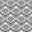 Pattern,Black Color,White,Seamless,Floral Pattern,Classic,Black And White,Ornate,Backgrounds,Damask Pattern,Textured,Vector Backgrounds,Vector Florals,Vector Ornaments,Wallpaper Pattern,Illustrations And Vector Art,Leaf,Abstract,Repetition,Textile,Ilustration
