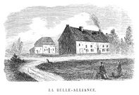 House,Inn,Old,Rural Scene,Engraved Image,Belgian Culture,Pub,Ilustration,History,French Culture,Old-fashioned,Outdoors,Building Exterior,Built Structure,France,Drawing - Art Product,Black And White,Image Created 1870-1879,Belgium,Print,Napoleon Bonaparte,Image Created 19th Century,military history,La Belle-alliance,Illustration Technique,Napoleonic Wars,The Past,Monochrome,Ephemera,Social History,Cultures,19th Century Style,Antique,Famous Place
